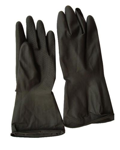 BLACK RUBBER GLOVE