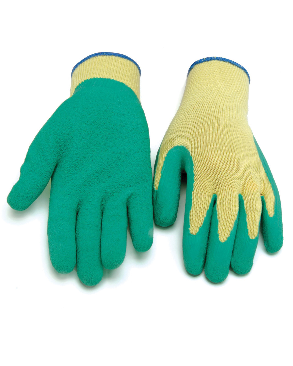GREEN LATEX COATED PALM GLOVE