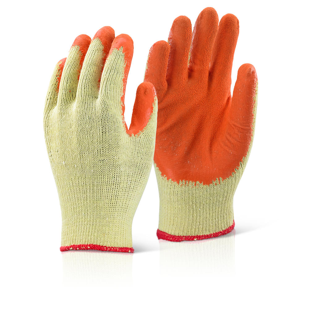 ORANGE LATEX COATED PALM GLOVE